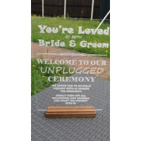 Welcome to our UNPLUGED Ceremony Acrylic Table Sign