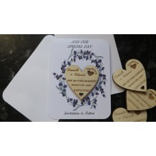 PERSONALISED WEDDING SAVE THE DATE MAGNET WITH CARD